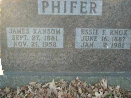 PHIFER, JAMES RANSOM - Boone County, Arkansas | JAMES RANSOM PHIFER - Arkansas Gravestone Photos