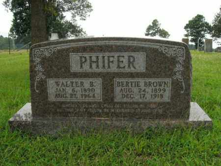 PHIFER, WALTER B. - Boone County, Arkansas | WALTER B. PHIFER - Arkansas Gravestone Photos
