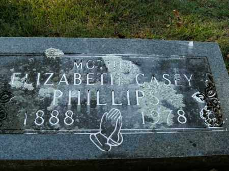 CASEY PHILLIPS, ELIZABETH - Boone County, Arkansas | ELIZABETH CASEY PHILLIPS - Arkansas Gravestone Photos