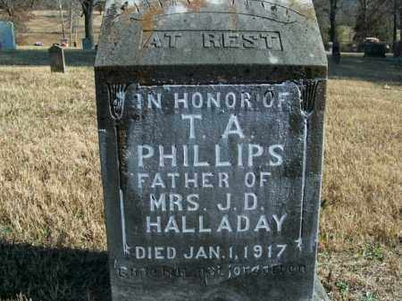 PHILLIPS, T.A. - Boone County, Arkansas | T.A. PHILLIPS - Arkansas Gravestone Photos