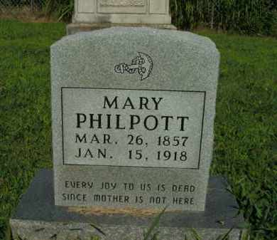 PHILPOTT, MARY - Boone County, Arkansas | MARY PHILPOTT - Arkansas Gravestone Photos