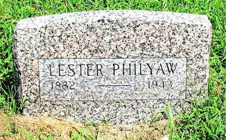 PHILYAW, LESTER - Boone County, Arkansas | LESTER PHILYAW - Arkansas Gravestone Photos