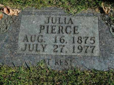 PIERCE, JULIA - Boone County, Arkansas | JULIA PIERCE - Arkansas Gravestone Photos