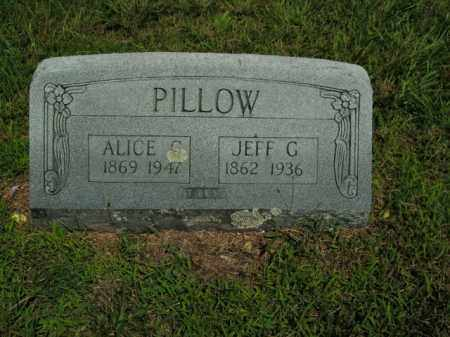 PILLOW, JEFF G. - Boone County, Arkansas | JEFF G. PILLOW - Arkansas Gravestone Photos