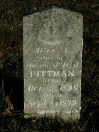 PITTMAN, ALICE V. - Boone County, Arkansas | ALICE V. PITTMAN - Arkansas Gravestone Photos
