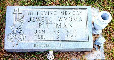 PITTMAN, JEWELL  WYOMA - Boone County, Arkansas   JEWELL  WYOMA PITTMAN - Arkansas Gravestone Photos