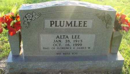 PLUMLEE, ALTA LEE - Boone County, Arkansas | ALTA LEE PLUMLEE - Arkansas Gravestone Photos