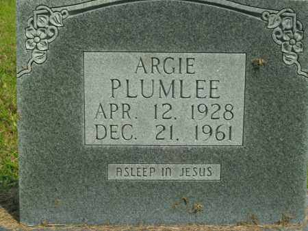 PLUMLEE, ARGIE - Boone County, Arkansas | ARGIE PLUMLEE - Arkansas Gravestone Photos