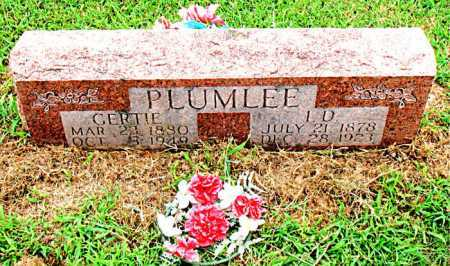 PLUMLEE, L.D. - Boone County, Arkansas | L.D. PLUMLEE - Arkansas Gravestone Photos