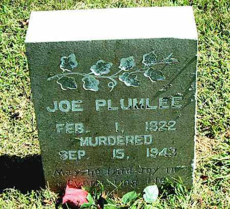 PLUMLEE, JOE - Boone County, Arkansas | JOE PLUMLEE - Arkansas Gravestone Photos