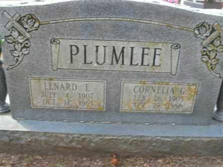 PLUMLEE, LENARD E. - Boone County, Arkansas | LENARD E. PLUMLEE - Arkansas Gravestone Photos