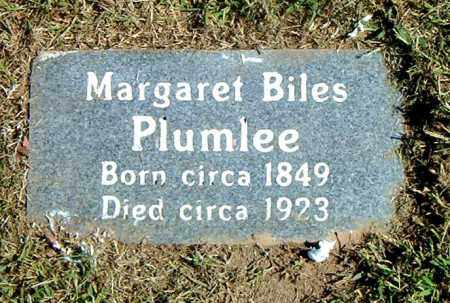 PLUMLEE, MARGARET - Boone County, Arkansas | MARGARET PLUMLEE - Arkansas Gravestone Photos