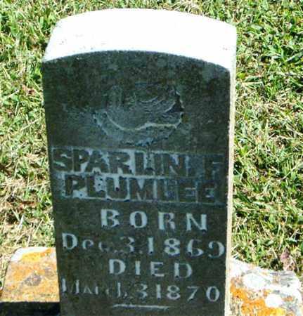 PLUMLEE, SPARLIN F. - Boone County, Arkansas | SPARLIN F. PLUMLEE - Arkansas Gravestone Photos