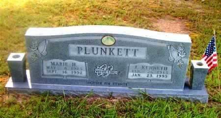 PLUNKETT, J.  KENNETH - Boone County, Arkansas | J.  KENNETH PLUNKETT - Arkansas Gravestone Photos