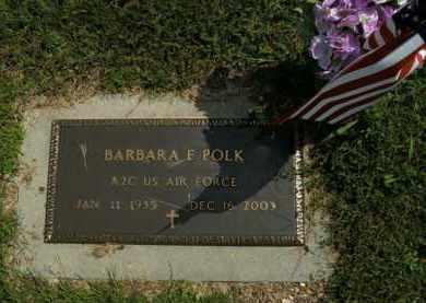 POLK  (VETERAN), BARBARA F - Boone County, Arkansas | BARBARA F POLK  (VETERAN) - Arkansas Gravestone Photos