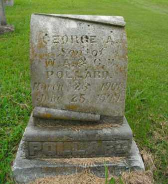 POLLARD, GEORGE A. - Boone County, Arkansas | GEORGE A. POLLARD - Arkansas Gravestone Photos