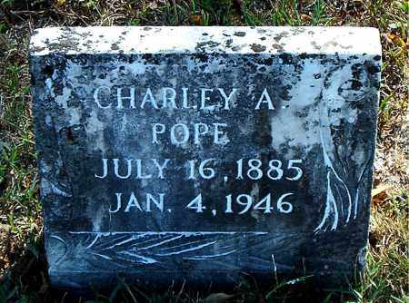 POPE, CHARLEY  A. - Boone County, Arkansas | CHARLEY  A. POPE - Arkansas Gravestone Photos