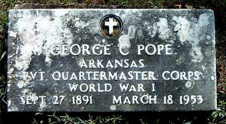 POPE  (VETERAN WWI), GEORGE  C. - Boone County, Arkansas | GEORGE  C. POPE  (VETERAN WWI) - Arkansas Gravestone Photos