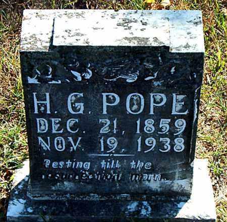 POPE, H.  G. - Boone County, Arkansas | H.  G. POPE - Arkansas Gravestone Photos