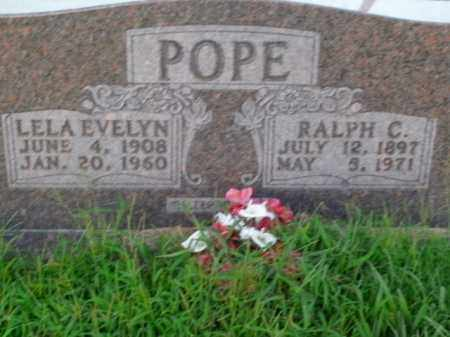 POPE, LELA EVELYN - Boone County, Arkansas | LELA EVELYN POPE - Arkansas Gravestone Photos