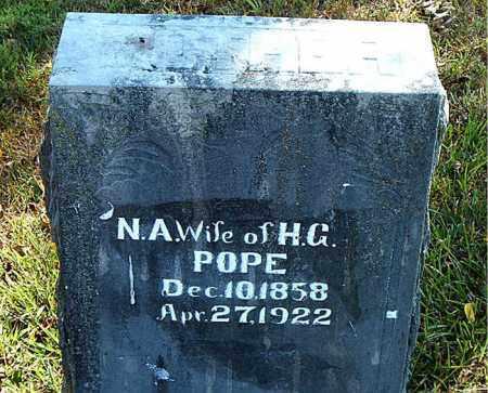 POPE, N.  A. - Boone County, Arkansas | N.  A. POPE - Arkansas Gravestone Photos