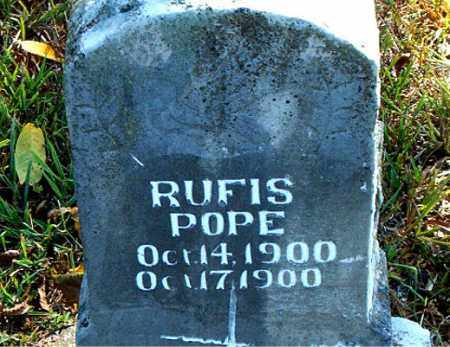 POPE, RUFIS - Boone County, Arkansas | RUFIS POPE - Arkansas Gravestone Photos
