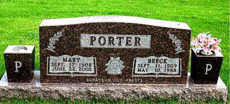 PORTER, BRECK - Boone County, Arkansas | BRECK PORTER - Arkansas Gravestone Photos