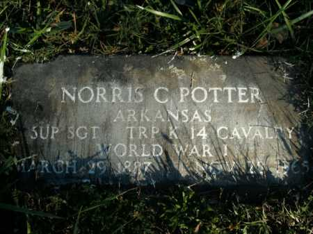 POTTER (VETERAN WWI), NORRIS C - Boone County, Arkansas | NORRIS C POTTER (VETERAN WWI) - Arkansas Gravestone Photos