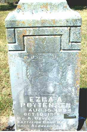 POTTENGER  (VETERAN WWI), EZRA  A. - Boone County, Arkansas | EZRA  A. POTTENGER  (VETERAN WWI) - Arkansas Gravestone Photos