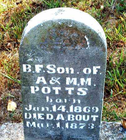 POTTS, BERRY  F. - Boone County, Arkansas | BERRY  F. POTTS - Arkansas Gravestone Photos