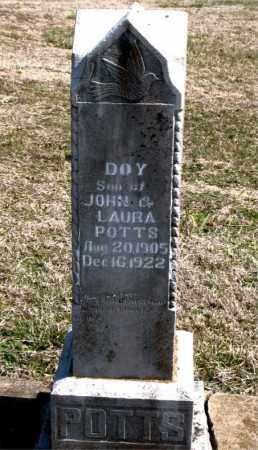 POTTS, DOY - Boone County, Arkansas | DOY POTTS - Arkansas Gravestone Photos