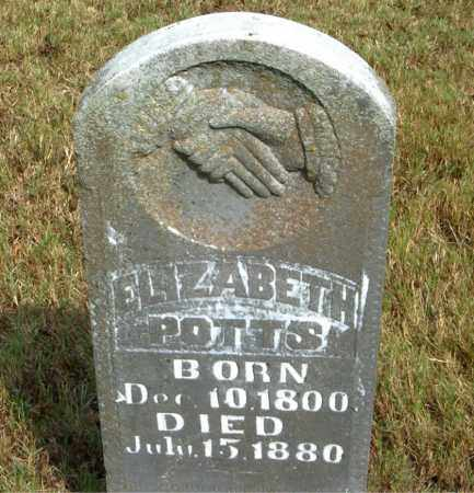 POTTS, ELIZABETH - Boone County, Arkansas | ELIZABETH POTTS - Arkansas Gravestone Photos