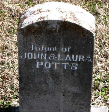 POTTS, INFANT - Boone County, Arkansas | INFANT POTTS - Arkansas Gravestone Photos