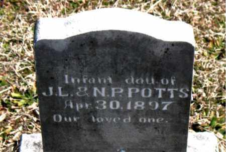 POTTS, INFANT DAUGHTER - Boone County, Arkansas   INFANT DAUGHTER POTTS - Arkansas Gravestone Photos