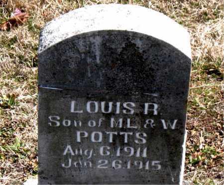POTTS, LOUIS  R. - Boone County, Arkansas | LOUIS  R. POTTS - Arkansas Gravestone Photos