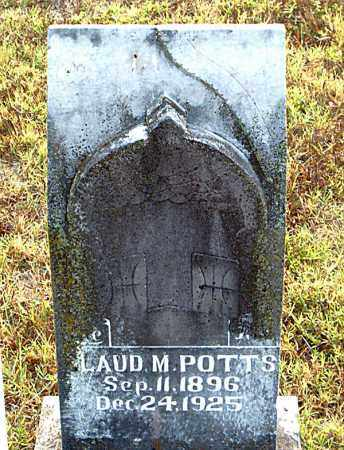POTTS, LAUD  M. - Boone County, Arkansas | LAUD  M. POTTS - Arkansas Gravestone Photos
