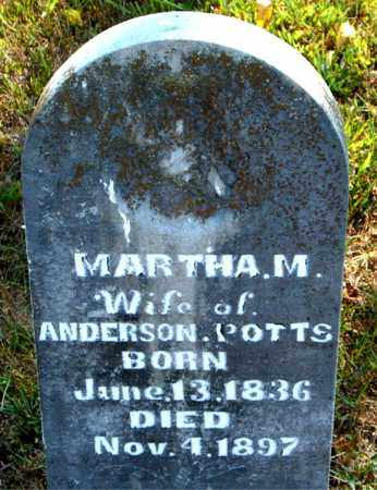 POTTS, MARTHA  M. - Boone County, Arkansas | MARTHA  M. POTTS - Arkansas Gravestone Photos