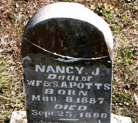 POTTS, NANCY  J. - Boone County, Arkansas | NANCY  J. POTTS - Arkansas Gravestone Photos