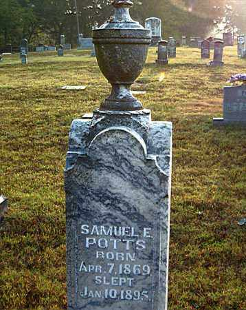 POTTS, SAMUEL  E. - Boone County, Arkansas | SAMUEL  E. POTTS - Arkansas Gravestone Photos