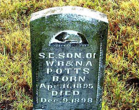 POTTS, S.  C. - Boone County, Arkansas | S.  C. POTTS - Arkansas Gravestone Photos