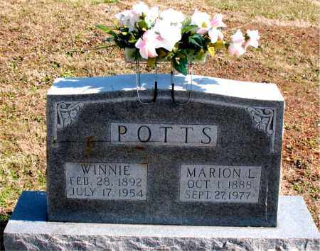 POTTS, MARION  L. - Boone County, Arkansas | MARION  L. POTTS - Arkansas Gravestone Photos