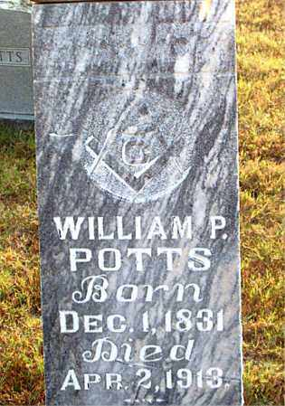 POTTS, WILLIAM  P. - Boone County, Arkansas | WILLIAM  P. POTTS - Arkansas Gravestone Photos