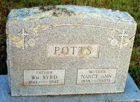 POTTS, WILLIAM BYRD - Boone County, Arkansas | WILLIAM BYRD POTTS - Arkansas Gravestone Photos