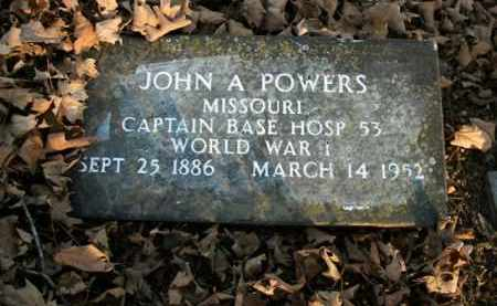 POWERS  (VETERAN WWI), JOHN A - Boone County, Arkansas | JOHN A POWERS  (VETERAN WWI) - Arkansas Gravestone Photos