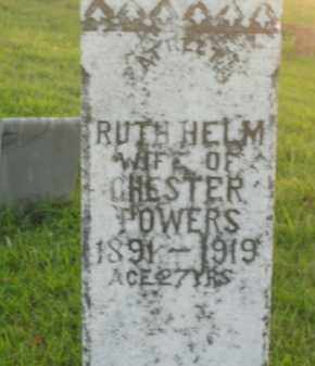 HELM POWERS, RUTH - Boone County, Arkansas | RUTH HELM POWERS - Arkansas Gravestone Photos