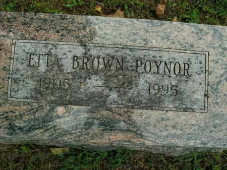 POYNER, ETTA BROWN - Boone County, Arkansas | ETTA BROWN POYNER - Arkansas Gravestone Photos
