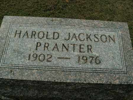 PRANTER, HAROLD JACKSON - Boone County, Arkansas | HAROLD JACKSON PRANTER - Arkansas Gravestone Photos