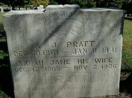 PRATT, SARAH JANE - Boone County, Arkansas | SARAH JANE PRATT - Arkansas Gravestone Photos