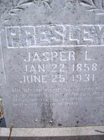 PRESLEY, JASPER L. - Boone County, Arkansas | JASPER L. PRESLEY - Arkansas Gravestone Photos