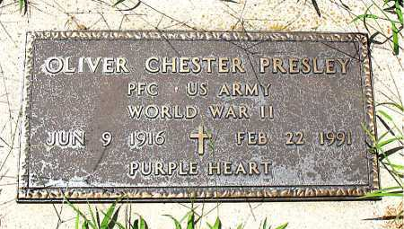 PRESLEY  (VETERAN WWII), OLIVER CHESTER - Boone County, Arkansas | OLIVER CHESTER PRESLEY  (VETERAN WWII) - Arkansas Gravestone Photos
